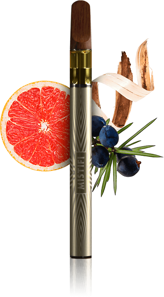 MISTIFI Phantom Premium Cannabis Vape Pen and Flavors Juniper Woody Citrus Pure Nature Experience