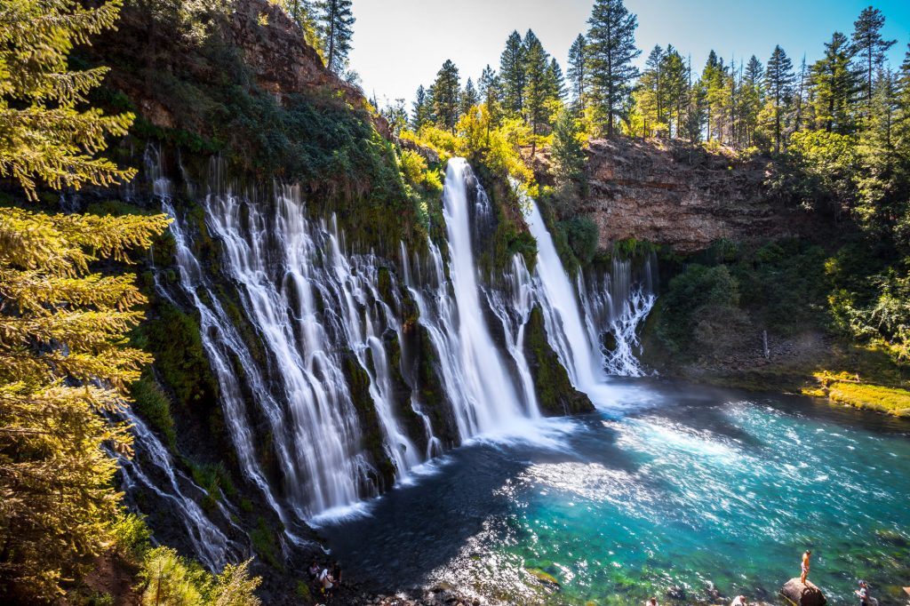 most beautiful places in california burney falls